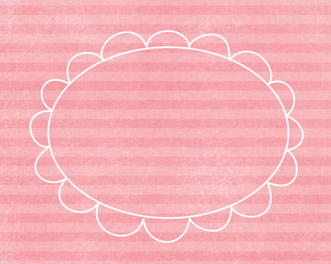 *DFCGBP - Doodle Frame Cards Gerber Daisy Pink - 10 card pack