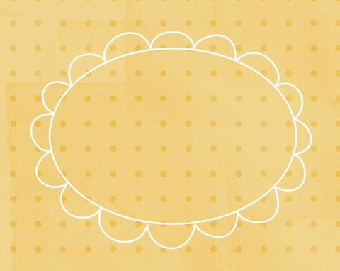 DFCYD - Doodle Frame Cards Yellow Daisies - 10 card pack