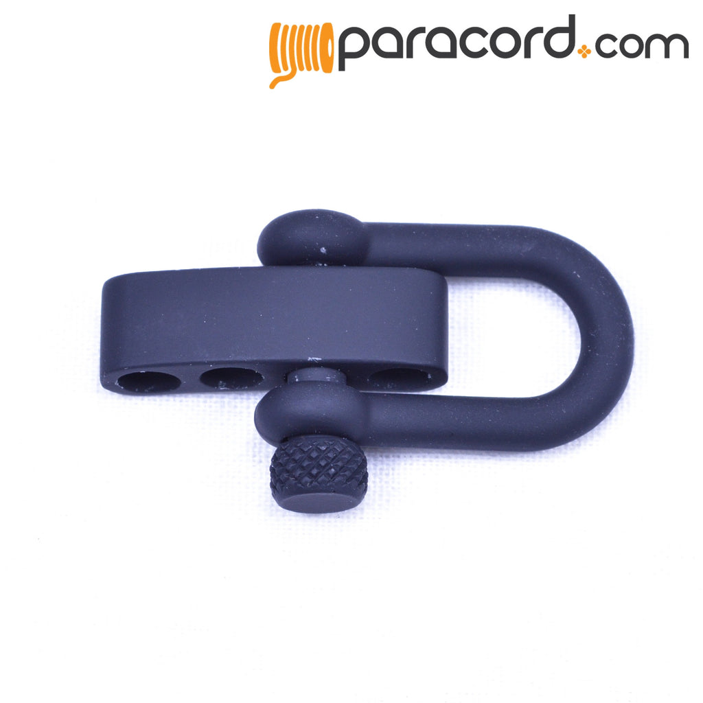 Rubberized Black Adjustable Shackle