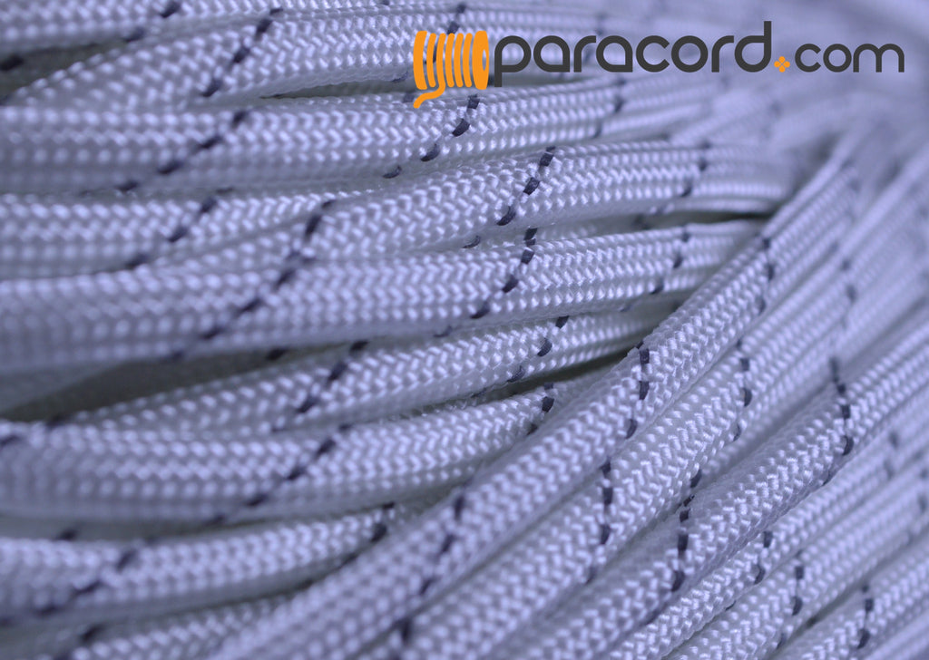 Reflective Tracer White Paracord
