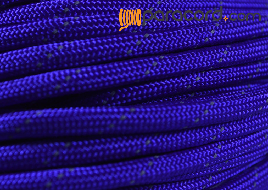 Reflective Tracer Electric Blue Paracord