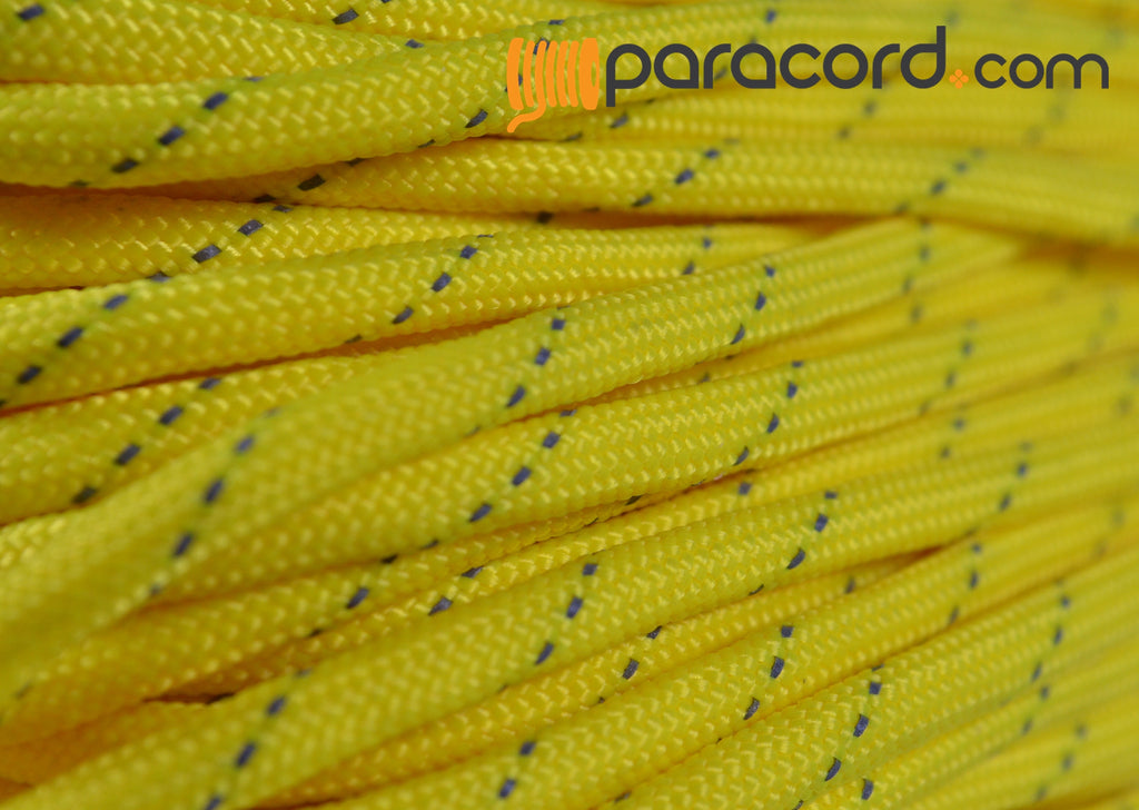 Reflective Tracer Yellow Paracord