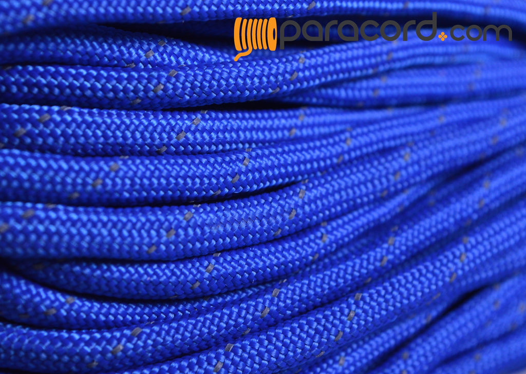 Reflective Tracer Royal Blue Paracord