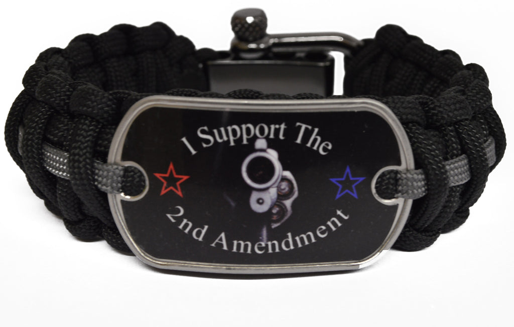 2nd Amendment Paracord Survival Bracelet