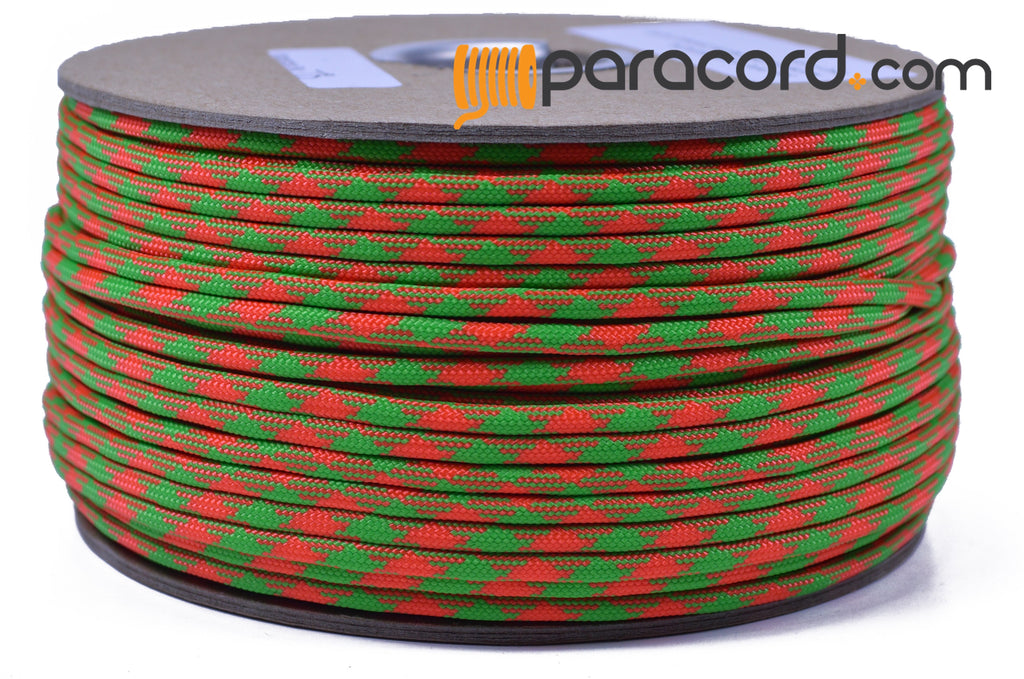 Neon Green and Orange 50/50 - 250 Foot Spool