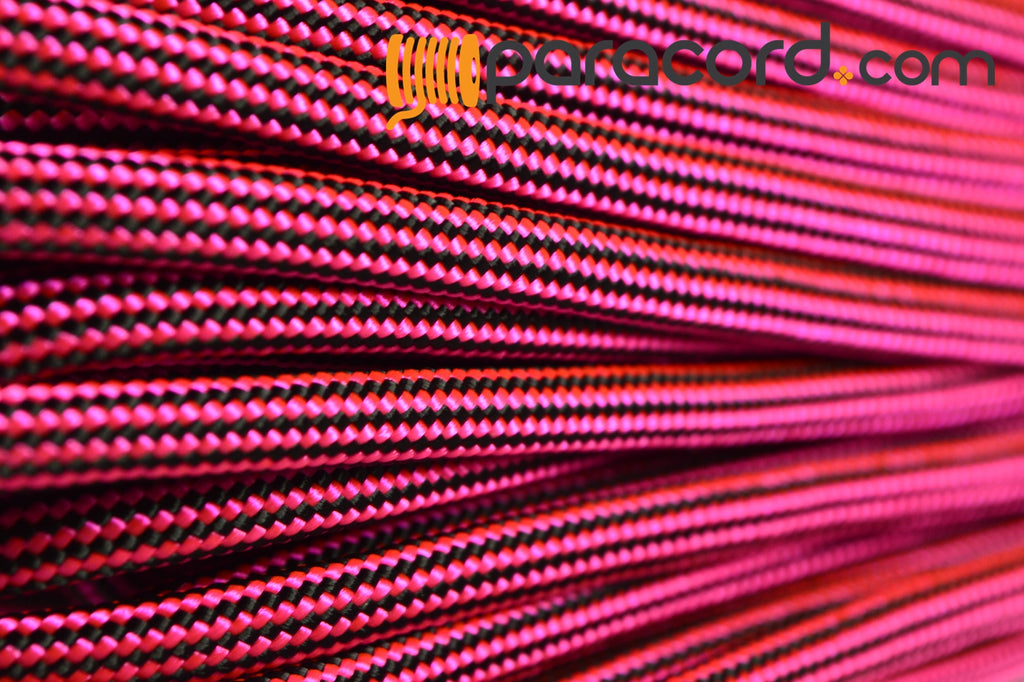 Neon Pink and Black Stripes