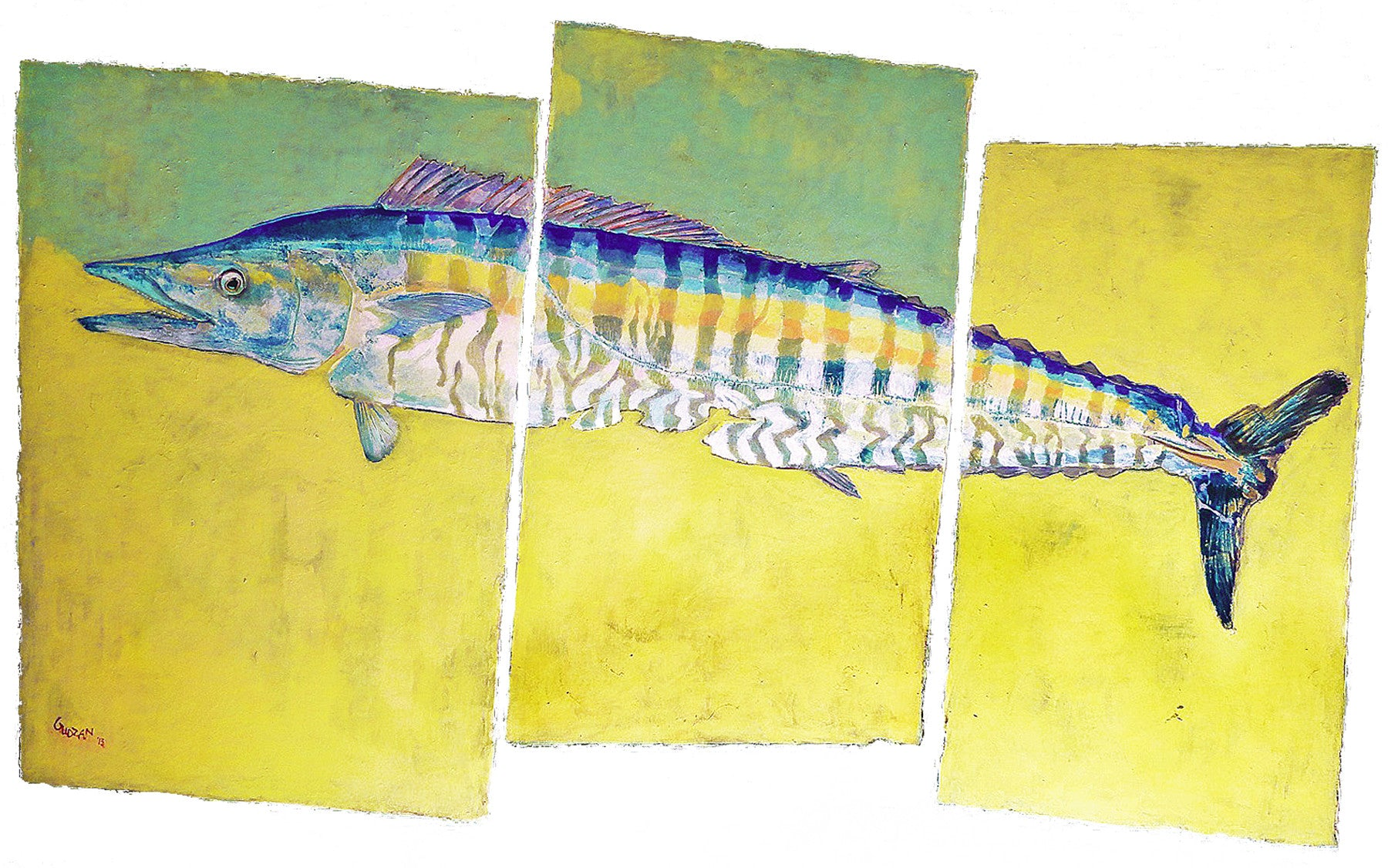 New Fish Art - Wahoo
