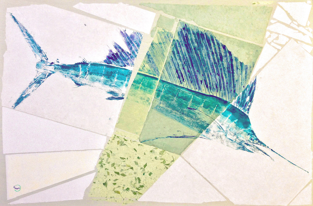 Sailfish Gyotaku - Richie Gudzan