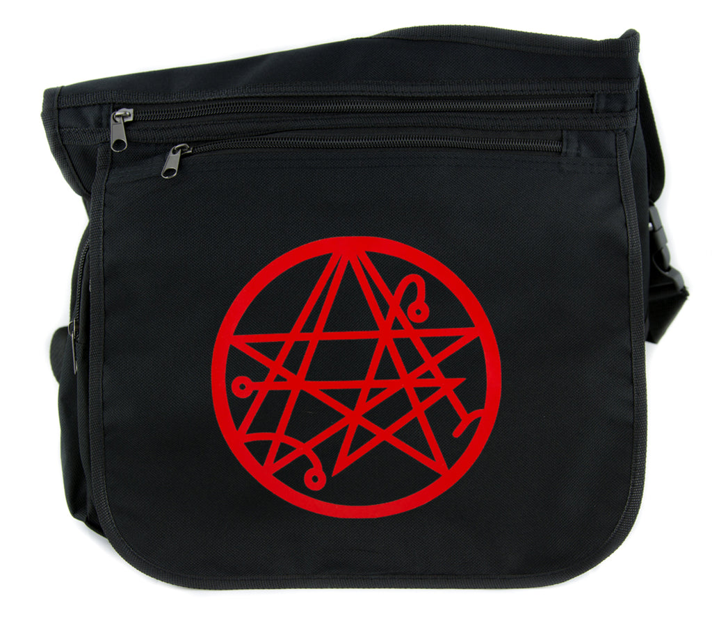Necronomicon Gate Cross Body Messenger School Bag Alchemy Symbol H.P. Lovecraft