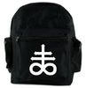 Crux Satanus Leviathan Backpack School Bag Occult Black Sulphur