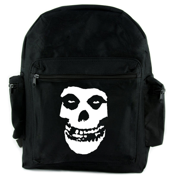 Skeleton Skull Misfits Backpack School Bag Punk Rock Emo Horror