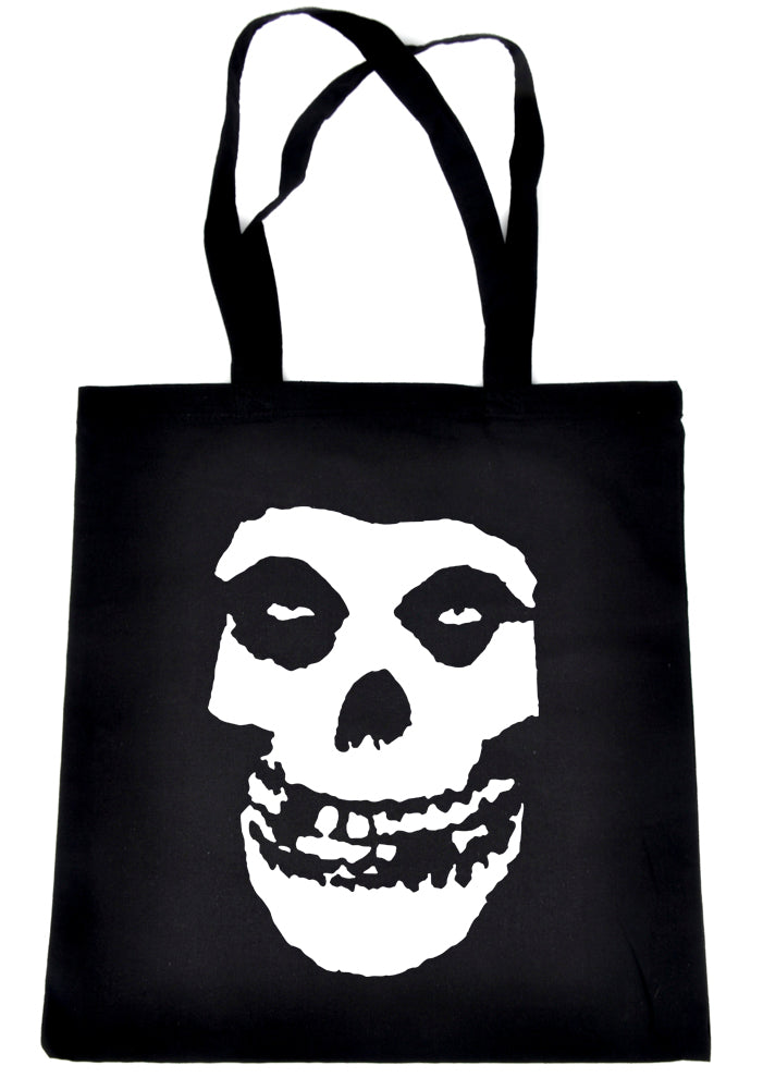 Skeleton Skull Misfits Punk Rock Tote Book Bag School