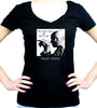 Aleister Crowley Women's V-Neck Shirt Top The Great Beast 666
