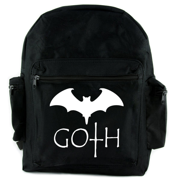Goth with Bat Backpack School Bag Punk Emo Alternative
