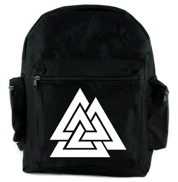 Norse Triangle Knot Backpack School Bag The Valknut Odin's Slain Warriors