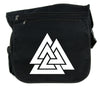 Norse Triangle Knot Cross Body Messenger School Bag The Valknut Odin's Slain Warriors