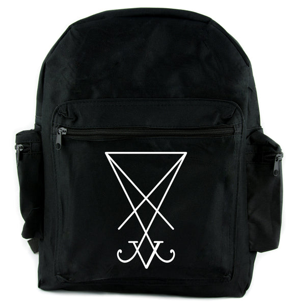 Sigil of Lucifer Backpack School Bag Occult Satanic