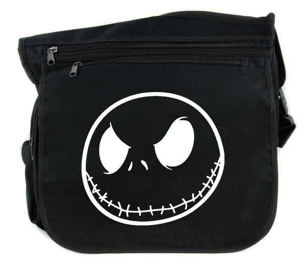 Negative Jack Skellington Cross Body Messenger School Bag Nightmare Before Christmas