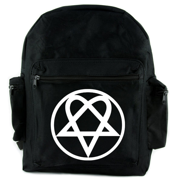 HIM Heartagram Backpack School Bag Ville Valo Goth Punk