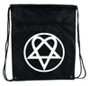 HIM Heartagram Cinch Bag Drawstring Backpack Ville Valo Goth