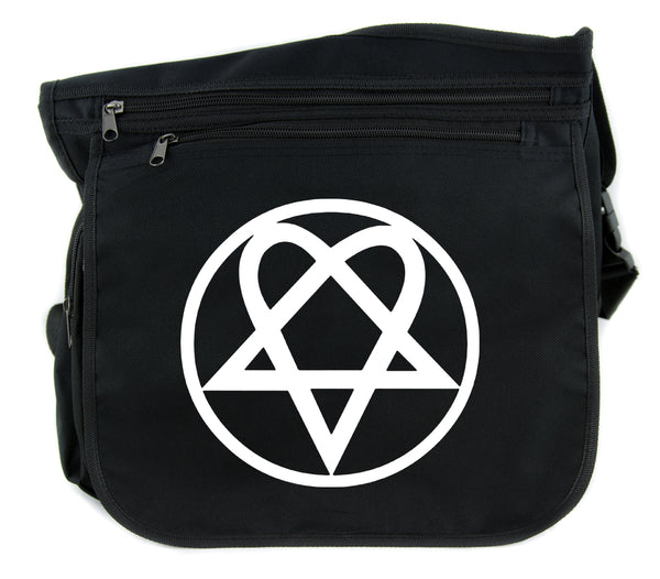 HIM Heartagram Cross Body Messenger School Bag Ville Valo Goth Punk