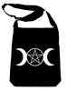 Triple Moon Goddess Pentagram Crossbody Sling Bag Witchy