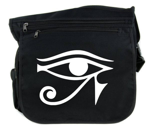 Egyptian Eye of Ra Horus Cross Body Messenger School Bag Occult