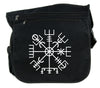 Vegvisir Viking Compass Symbol Cross Body Messenger School Bag Viking Old Norse