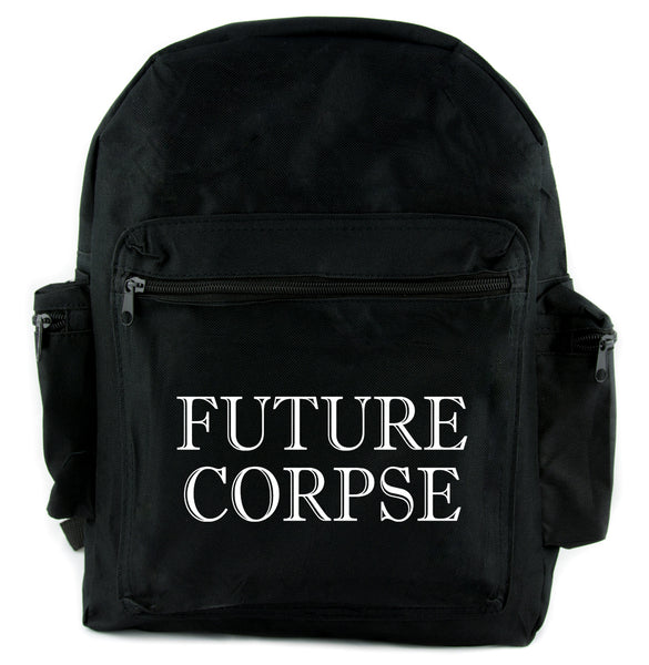 Future Corpse Backpack School Bag Goth Funeral Cemetery