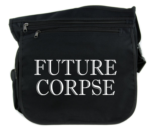 Future Corpse Cross Body Messenger School Bag Goth Funeral Cemetery