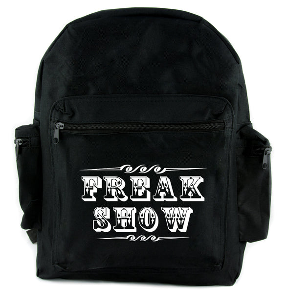 Freak Show Poster Backpack School Bag Carnivale Circus Side Show