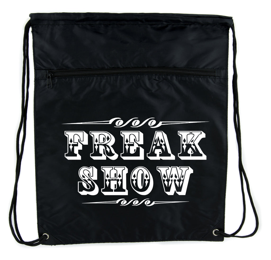 Freak Show Poster Cinch Bag Drawstring Backpack Carnivale Circus Side Show