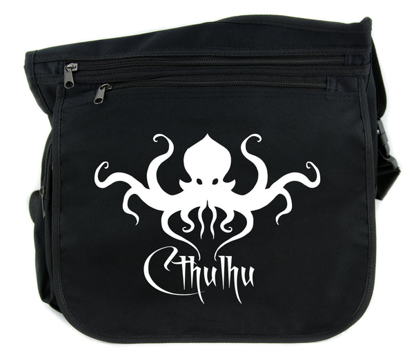 H.P. Lovecraft Cthulhu Octopus Cross Body Messenger School Bag Occult