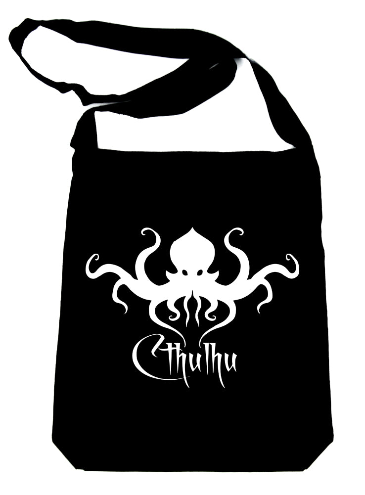 H.P. Lovecraft Cthulhu Octopus Crossbody Sling Bag Occult