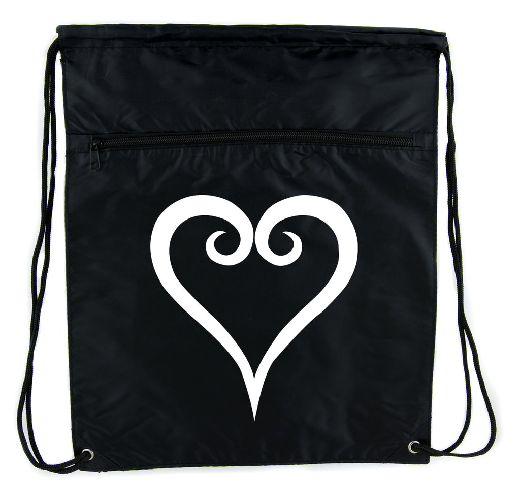 Kingdom Hearts Cinch Bag Drawstring Backpack Anime Gamer Accessories