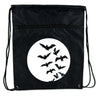 Full Moon w/ Flying Bats Cinch Bag Drawstring Backpack Goth Punk
