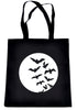 Full Moon w/ Flying Bats Tote Book Bag School Goth Punk Deathrock
