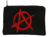 Red Anarchy Cosmetic Makeup Bag Pouch Punk Oi Emo Alternative
