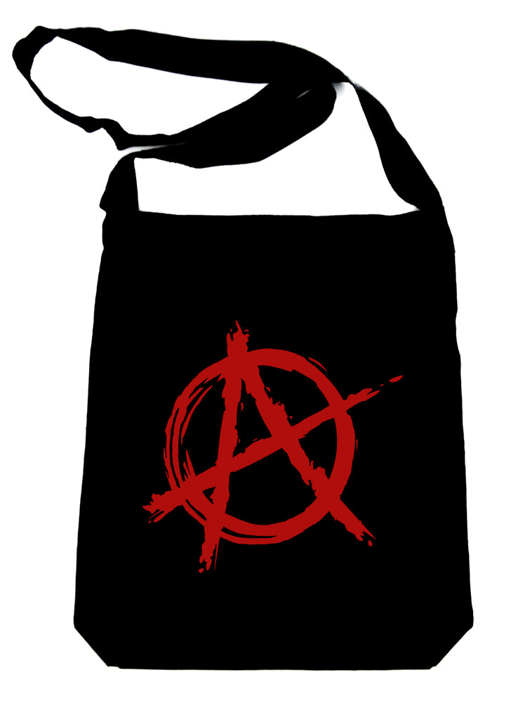 Red Anarchy Crossbody Sling Bag Goth Rock Punk Rock