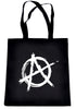 White Anarchy Tote Book Bag School Goth Punk Rock Deathrock