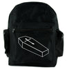 Voodoo Coffin w/ Gothic Cross Backpack School Bag Punk Horror