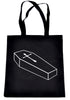 Voodoo Coffin w/ Gothic Cross Tote Book Bag School Goth Punk Horror