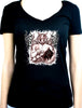 Satanic Baphomet Goat Devil Women's V-Neck Shirt Top