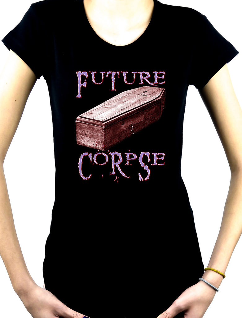 Future Corpse w/ Coffin Women's Babydoll Shirt Deathrock Clothing