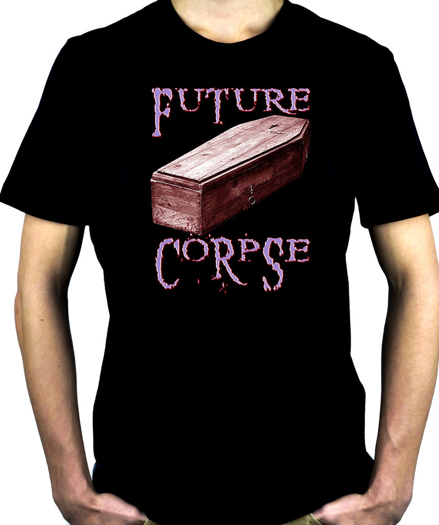 Future Corpse w/ Coffin Men't T-shirt Deathrock Clothing