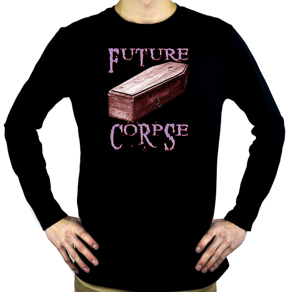 Future Corpse w/ Coffin Men't Long Sleeve T-shirt Deathrock Clothing
