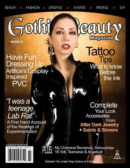 Gothic Beauty Magazine Issue 23 Music interviews with My Chemical Romance, Astrovamps, 16 Volt, Tearwave and Angelspit