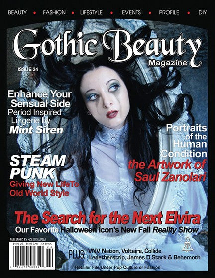Gothic Beauty Magazine Issue 24 Music interviews with VNV Nation, Voltaire, Leaether Strip and Behemoth