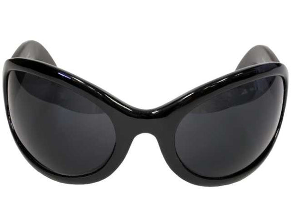 Gothic Vampire Sunglasses Oversized Black Lens