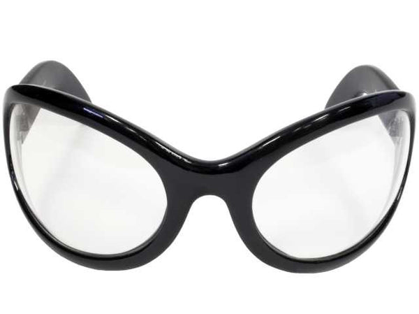 Clear Lens Gothic Vampire Sunglasses Oversized Sexy Glasses